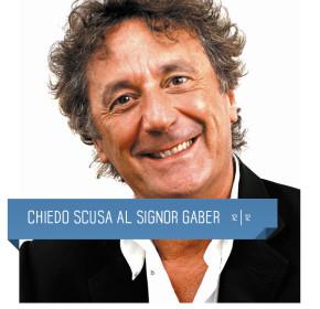 Chiedo scusa al signor Gaber di Iacchetti al Teatro Delfino il 12 dicembre 2015. piazza piero carnelli milano