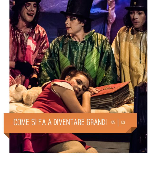 Come si fa a diventare grandi al Teatro Delfino il 5 marzo 2016. Il Mosaiko. Milano, piazza Piero Carnelli