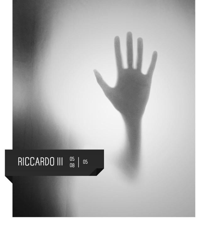 Riccardo III di Shakespeare al Teatro Delfino dal 5 all'8 maggio 2016. Regia Omar Nedjari con Federico Zanandrea. Piazza Piero Carnelli, Milano