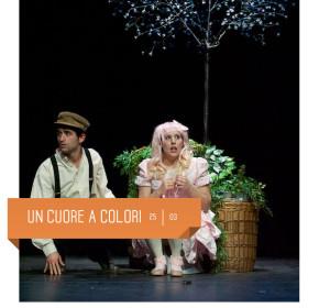"""""""Un cuore a colori"""" di cambusa teatro al Teatro Delfino il 25 marzo 2017. spettacolo per bambini"""