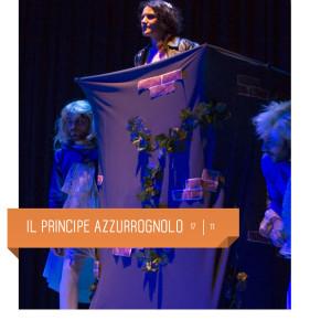 Il principe azzurrognolo, spettacolo per bambini, al Teatro Delfino di Milano il 17 novembre 2018.