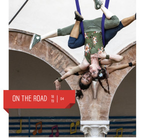 """Artemakia arriva al teatro delfino con """"on the road"""", spettacolo di circo contemporaneo all'interno di fuori tendenza. aprile 2020"""