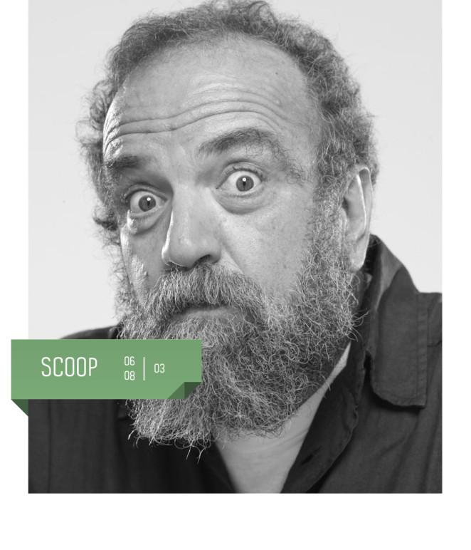 Giobbe Covatta torna al Teatro Delfino con il nuovo spettacolo Scoop, dal 6 all'8 marzo 2020.