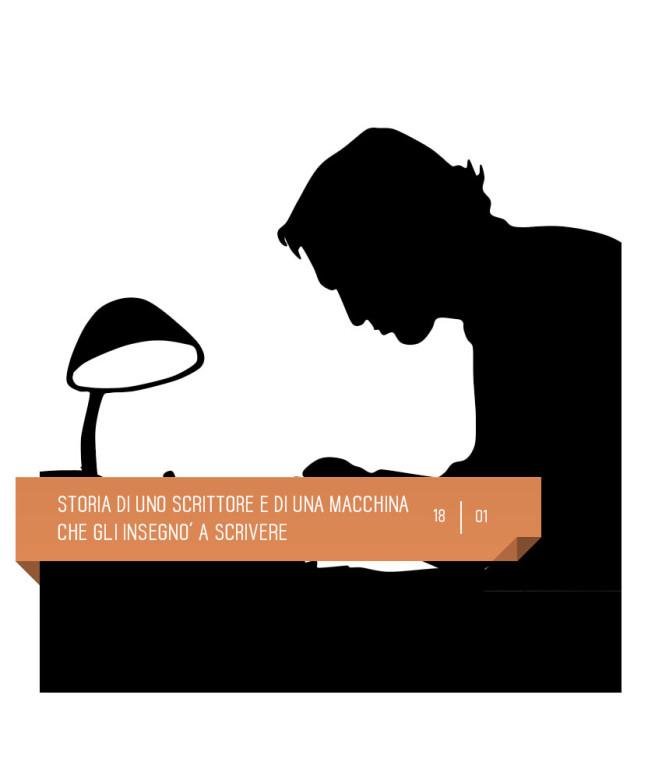 Storia di uno scrittore e di una macchina che gli insegnò a scrivere, spettacolo per bambini  al Teatro Delfino il 18 gennaio 2020