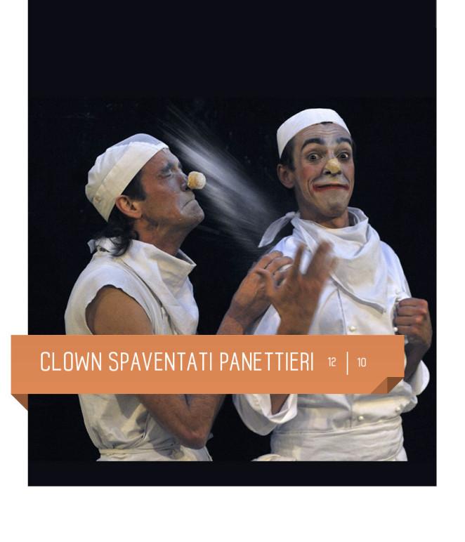 Clown spaventati panettieri al Teatro Delfino il 12 ottobre 2019. Spettacolo per bambini dai 4 anni